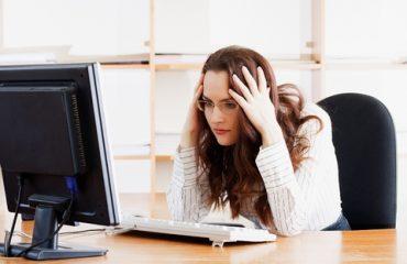 Women Looks At A Horrible Website