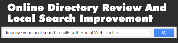 Online Directory Review and Local Search Improvement