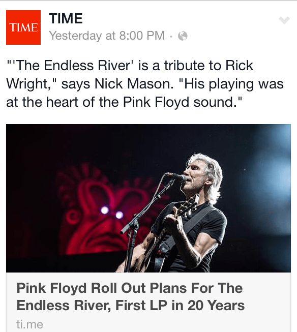 TIME Magazine highlights the release of Pink Floyd's