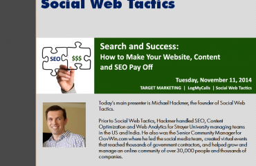 Search and Success PPT Cover: How To Make Your Website, Content Marketing And SEO Pay