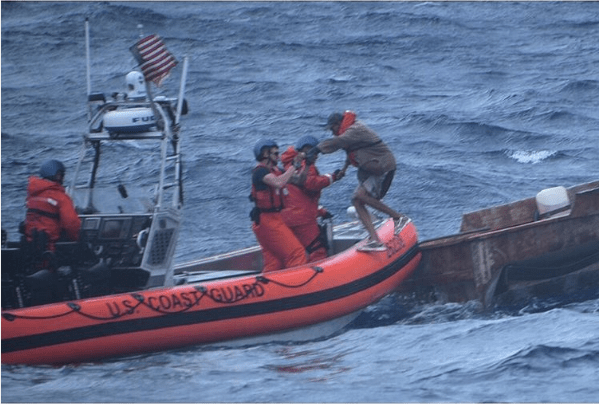 Coast Guard on Instagram - Rescuing Illegal Immigrants at Sea