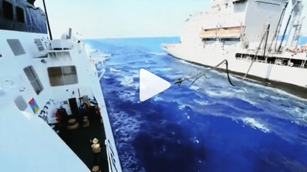 Coast Guard on Instagram - Ship to Ship Refueling