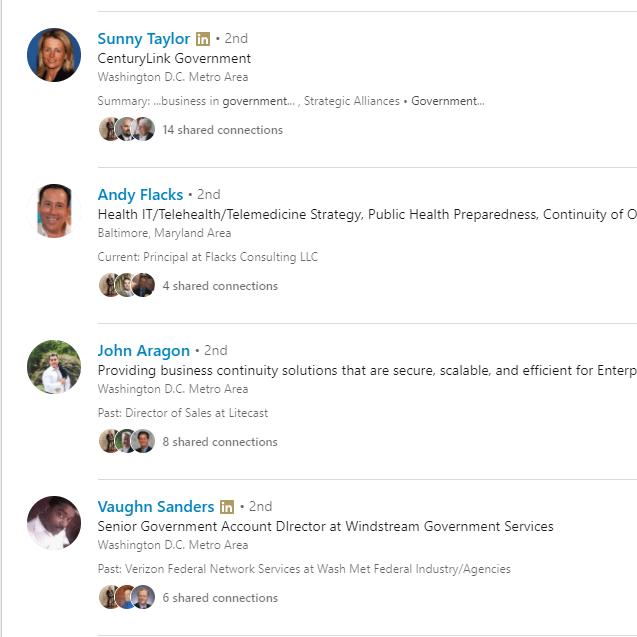 LinkedIn Profiles - COOP and COG - Social Web Tactics