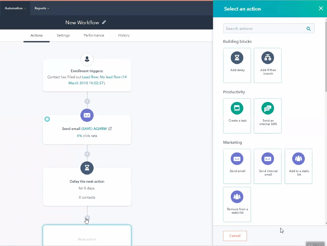 Workflows - Visual Workflow Builder - HubSpot - Marketing Automation